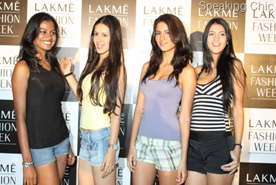 LFW model selected - Anuradha Nayudu, Anjali Raut, Rayna Levya and Marcela Rodrigues