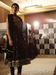 Model at Anita Dongre fitting