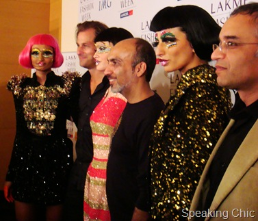 Manish Arora and models at LFW