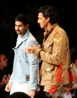Kunal Rawal with model LFW 2010