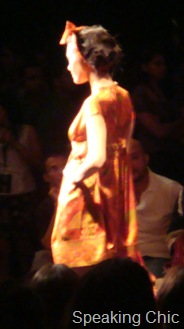Model in Ritu Kumar LFW
