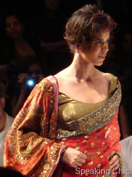 Anupama Dayal LFW Orange sari