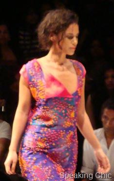 Nachiket Barve cross stitch purple dress