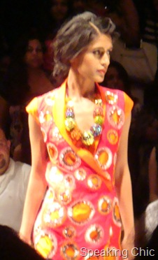 Nachiket Barve wrap dress LFW