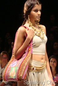 Malaga bag and jewellery at LFW