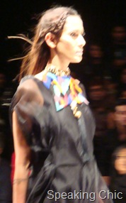 Model wearing Suhani Pittie jewellery at LFW