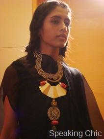 Model in Suhani Pittie's jewellery
