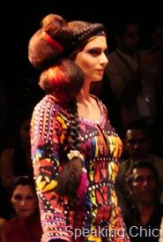 Model in Malini Ramani outfit
