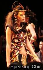 Model at Malini Ramani show