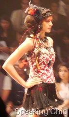 Malini Ramani's show at LFW- model