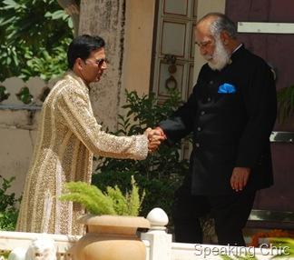 Akshay Kumar with king of Udaipur