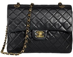 Black Chanel quilted bag