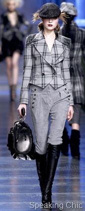 Christian Dior plaid riding jacket