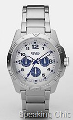Fossil Multifunction Silver Dial Watch
