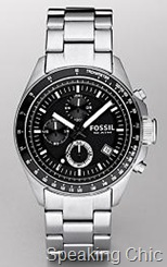 Fossil Decker Black Chronograph Dial watch