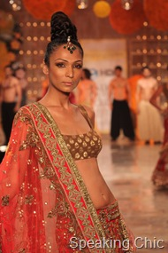 Manish Malhotra couture week- orange lehenga