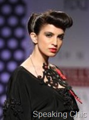 Sculpted hair at Ashish N Soni WLIFW