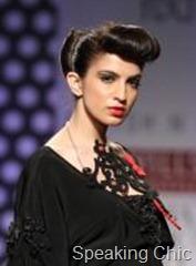Sculpted hair at Ashish N Soni WLIFW