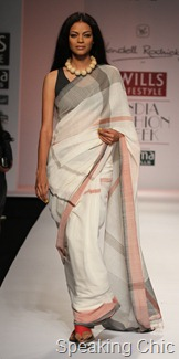 Kunbi sari at Wendell Rodricks WLIFW