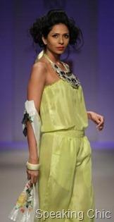 Preeti Chandra's green outfit at WLIFW