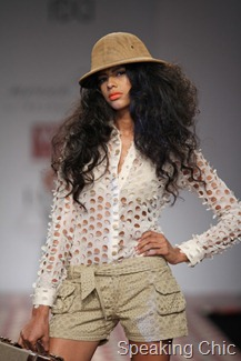 Reynu Taandon top and shorts at WLIFW