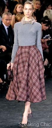 Louis Vuitton plaid wool skirt