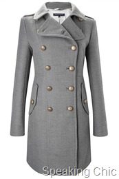 French Connection grey double-breasted coat