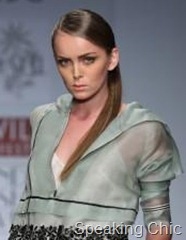 Sleek hair at WLIFW