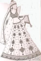 Sara Khan bridal lehenga by Vikram Phadnis option 3