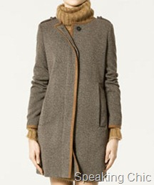 Straight coat from Zara