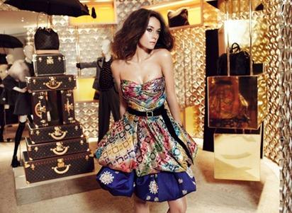 Louis Vuitton sari dress