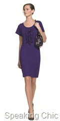 Marks & Spencer purple dress with ruffle