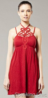 Chemistry red party dress