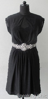 Vizyon black dress with belt
