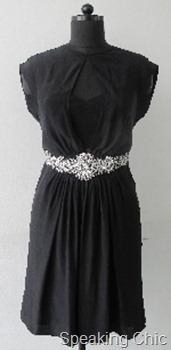 Vizyon black dress with belt