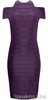 French Connection purple bodycon dress