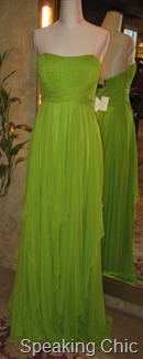 Gauri & Nainika green gown