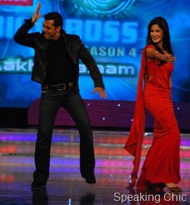 Katrina Kaif on Bigg Boss 4 red gown