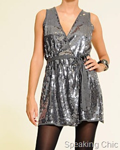 Mango sequinned dress