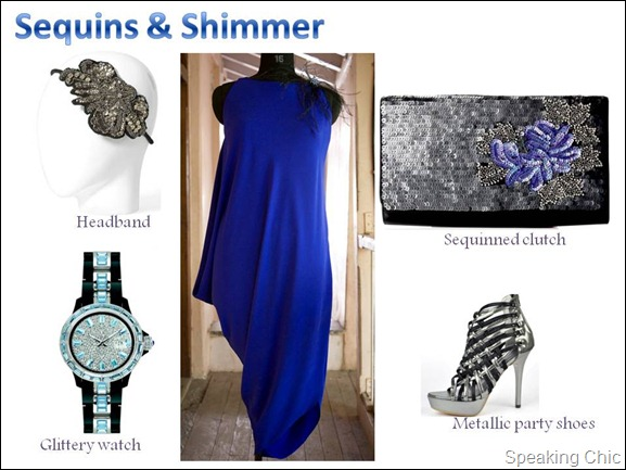 Party dress sequins & shimmer