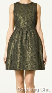 Zara brocade dress