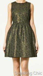 Zara brocade dress