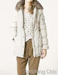 Zara anorak with fur collar