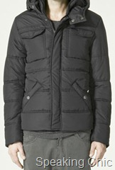 Zara quilted jacket with hood
