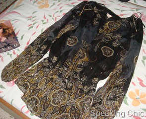 Mango black blouson with gold