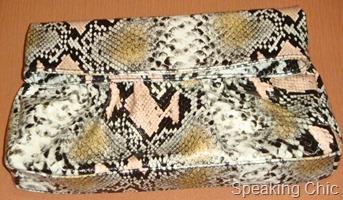 Steve Madden clutch leopard print
