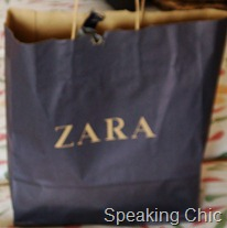 Zara sale shopping