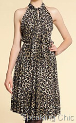 Mango dress leopard print