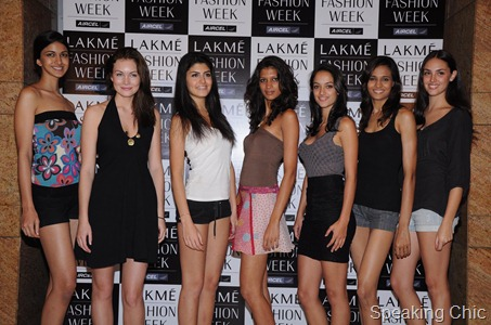 Lakme Fashion Week models