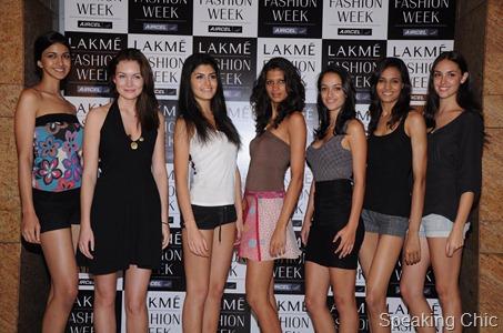 Lakme Fashion Week models